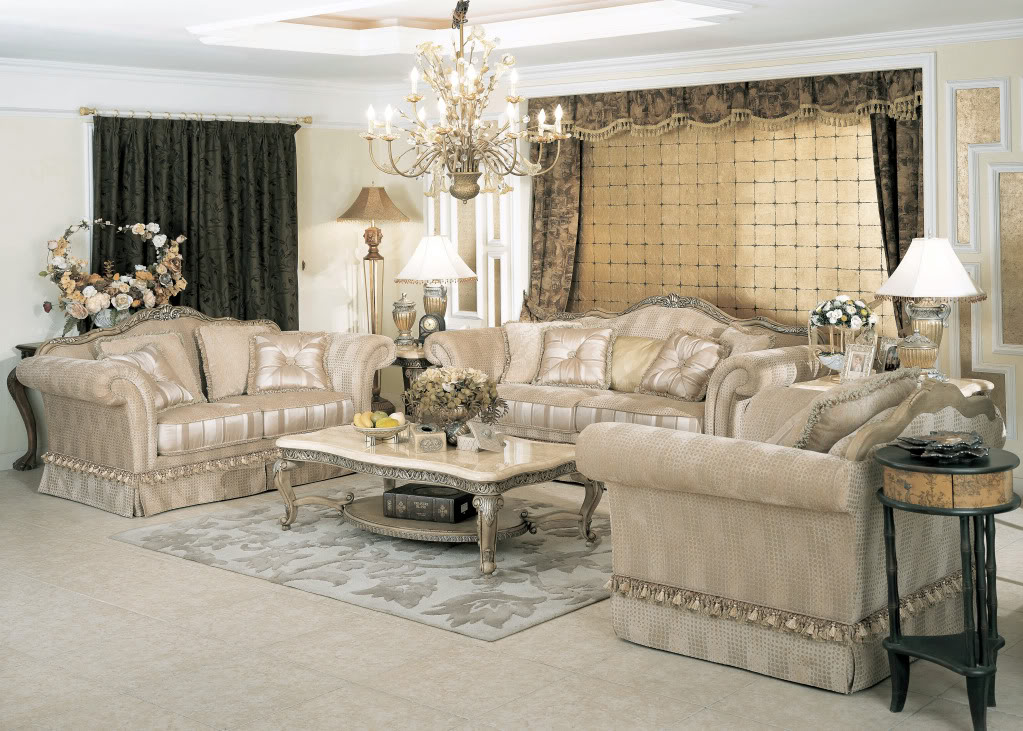 Jacqueline Luxury Formal Living Room Furniture Traditional Set