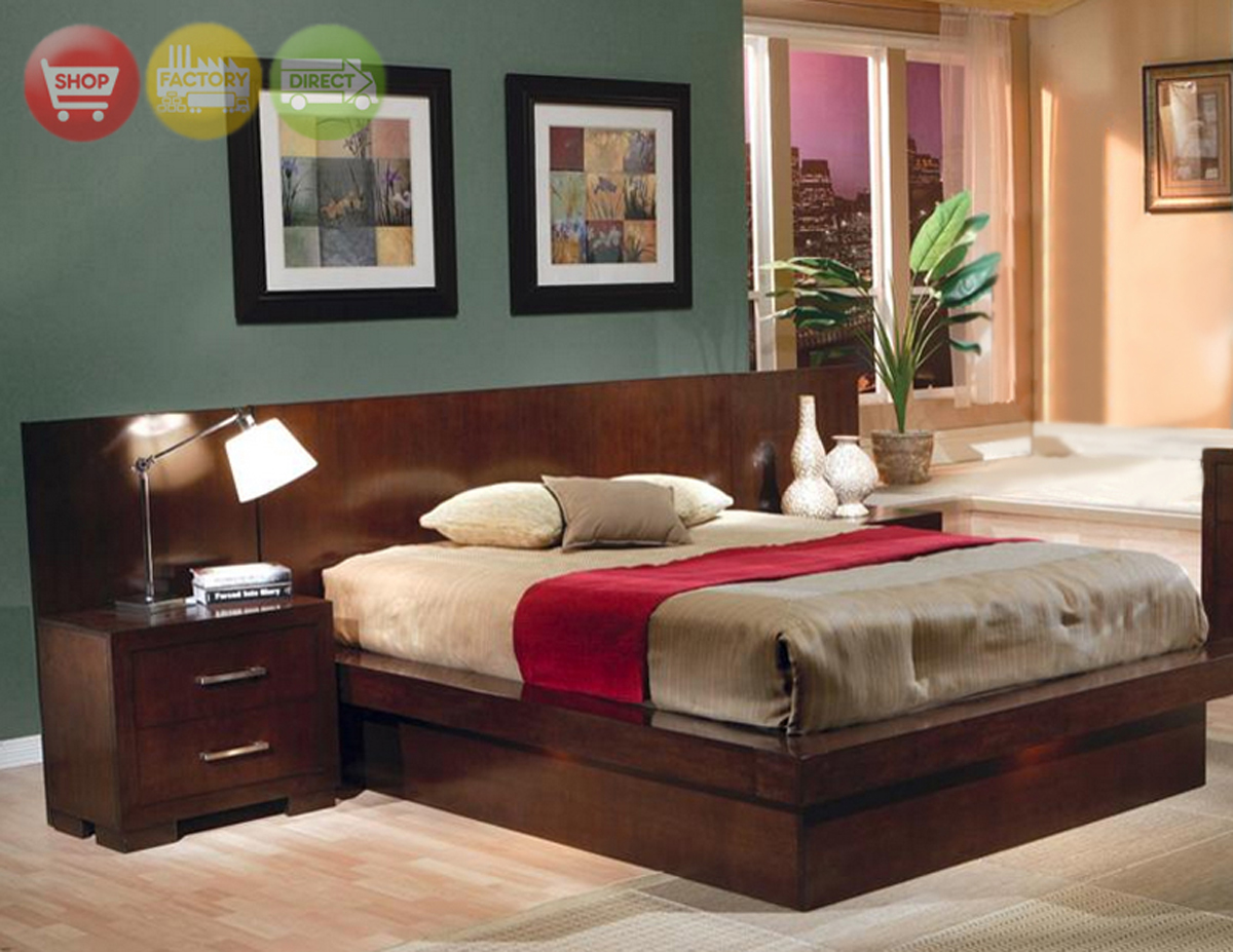 California King Platform Bed Modern Bedroom Furniture Collection