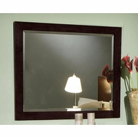 Jessica Contemporary Bevelled Mirror Cappuccino Frame 200714
