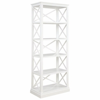 Johansson Antique White Five Shelved Bookcase