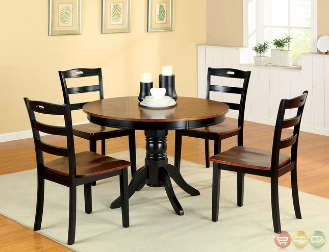 Johnstown Antique Oak and Black Casual Dining Set with  : johnstown antique oak and black casual dining set with wooden contour seat cm3027 29 from shopfactorydirect.com size 645 x 494 jpeg 222kB