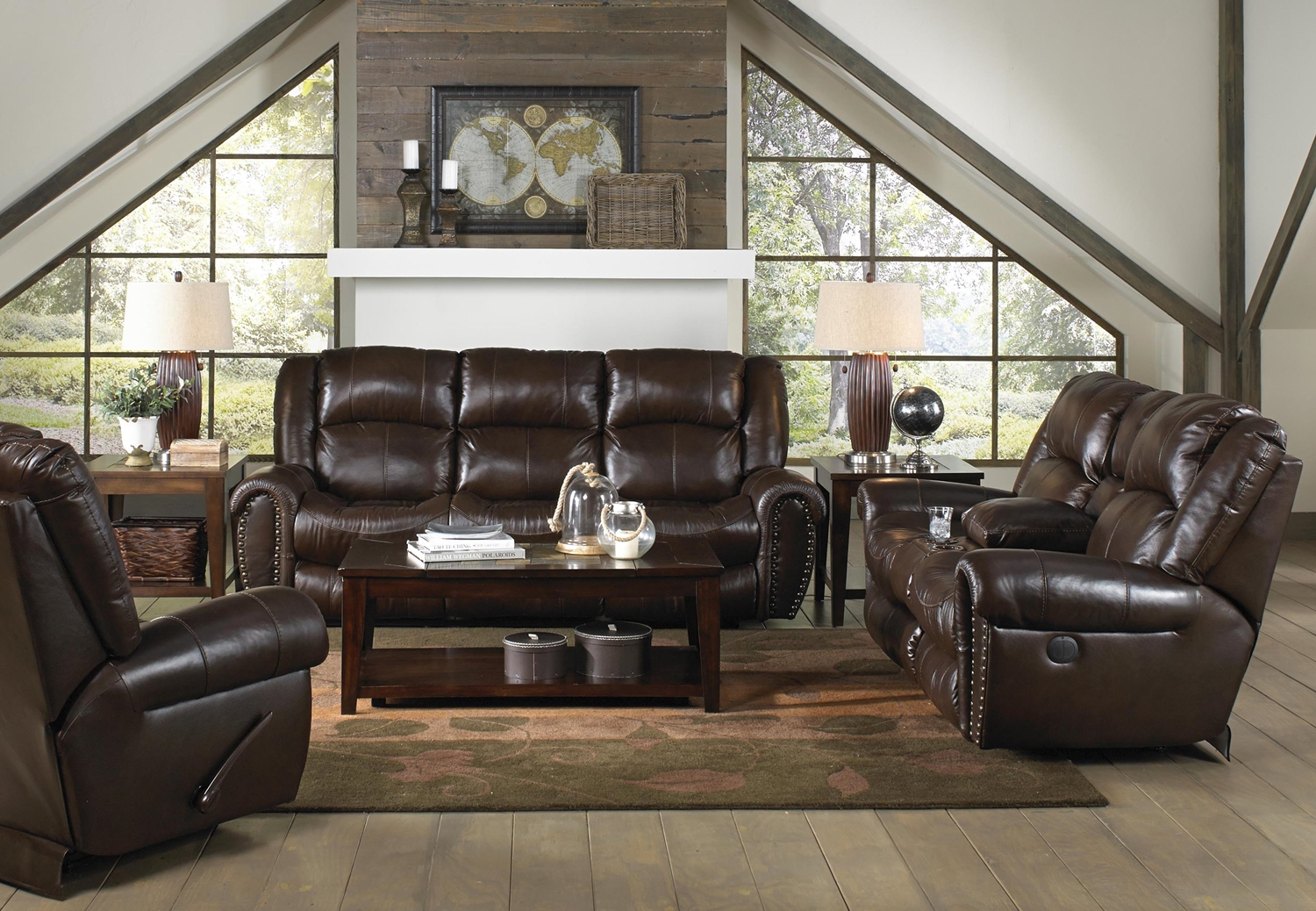 Leather Reclining Living Room Sets Ricardo Leather Reclining Sofa Hotornotlive