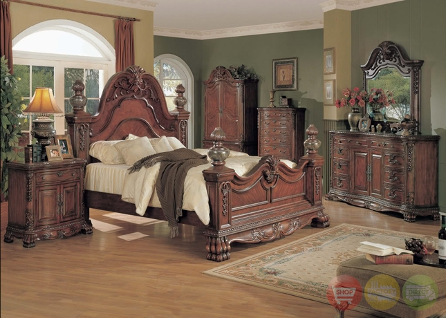 Kelsey Luxurious Traditional Bedroom Collection With Marble Tops