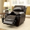 Kendra Transitional Brown Reclining Chair In Genuine Top Grain Leather