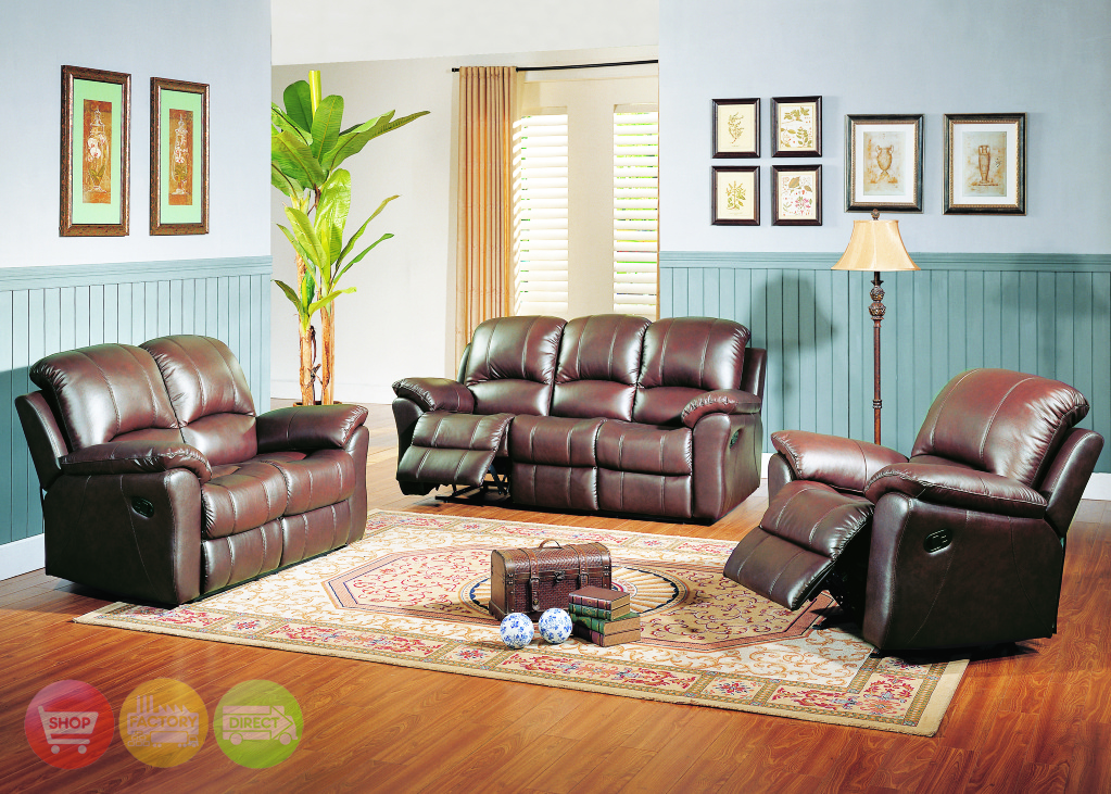brown leather living room modern house