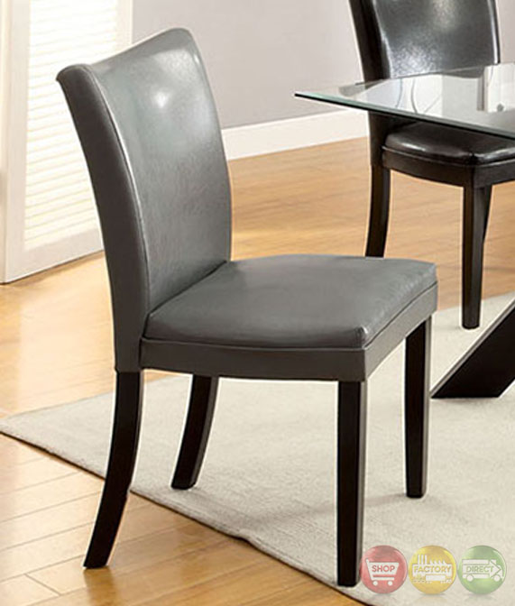 Belliz Contemporary Black Lacquer Table Casual Dining Set