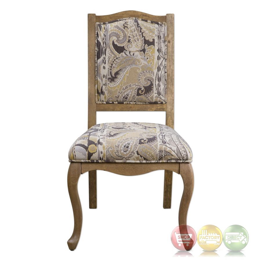 Kerriane French Country Birch Accent Chair With Gold Tan