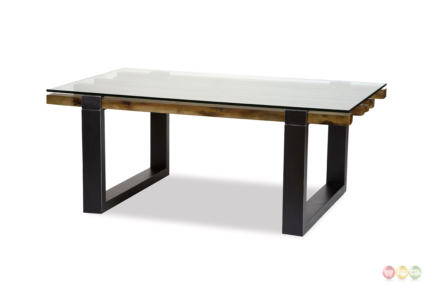 Modern Glass And Wood Coffee Table : ... Rustic Modern Mahogany Coffee Table w/ Stylish Wood & Glass Top