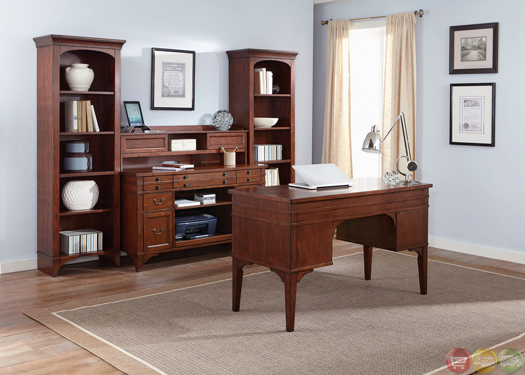 keystone traditional executive home office furniture desk set