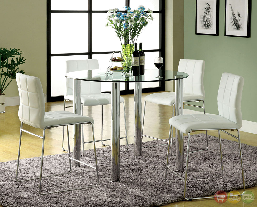 Kona Ii Contemporary Black Counter Height Dining Set With