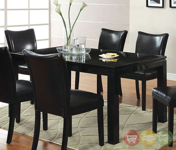 Lamia I Contemporary Black Casual Dining Set With
