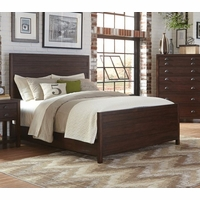 Lanchester Solid Mahogany King Panel Bed With Cocoa Acacia Finish