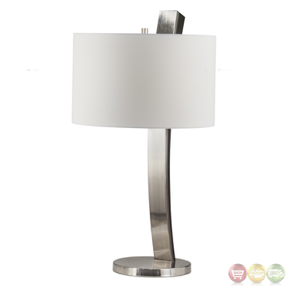 launch brushed nickel finish accent table lamp 1010438. Black Bedroom Furniture Sets. Home Design Ideas