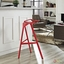Launch Ultra-modern Aluminum Stacking Bar Stool, Red