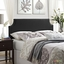 Laura King Vinyl Belgrave Headboard With Silver Nail Head, Black