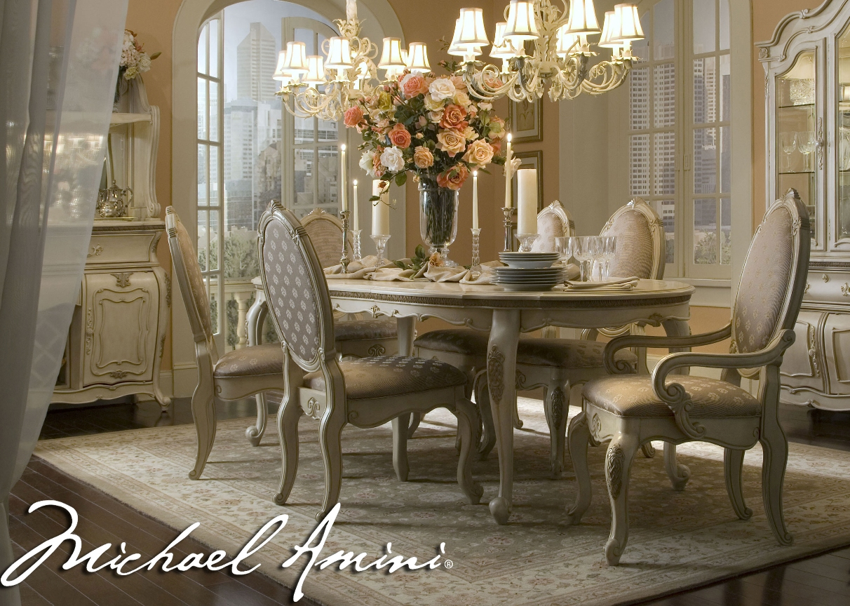 Antique White Formal Dining Room Sets