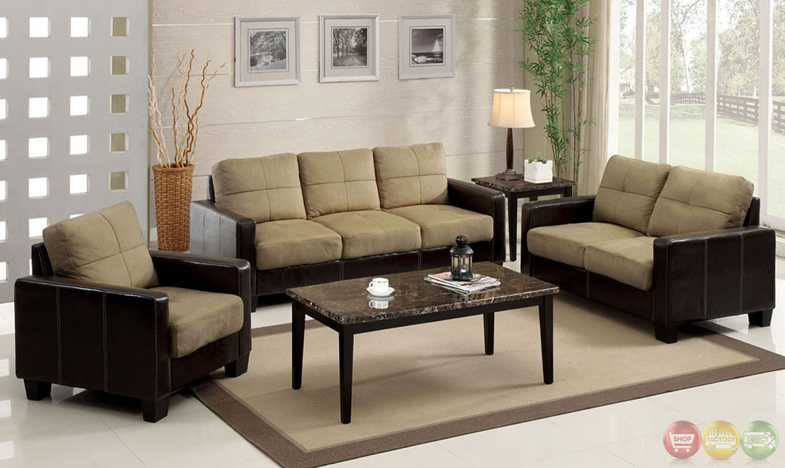 laverne contemporary dark brown and espresso living room