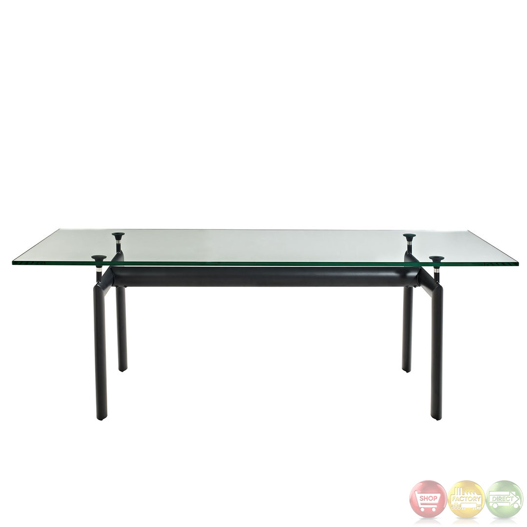 Contemporary Modern LC6 Dining Table With Sturdy Aluminum Base EEI 521