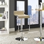 Lem Modernistic Adjustable Wood Bar Stool w/ Chrome Frame & Foot Rest, Natural
