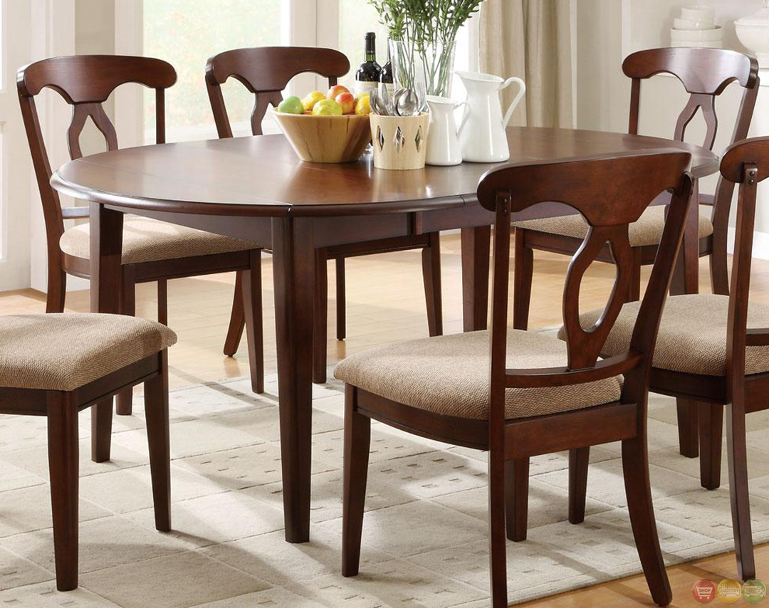 liam cherry finish space saver dining room furniture set upholstered