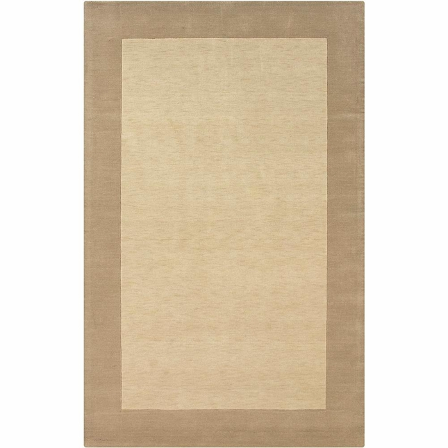 Rizzy Rugs Light Beige Solid Hand Loomed Area Rug Platoon PL1014