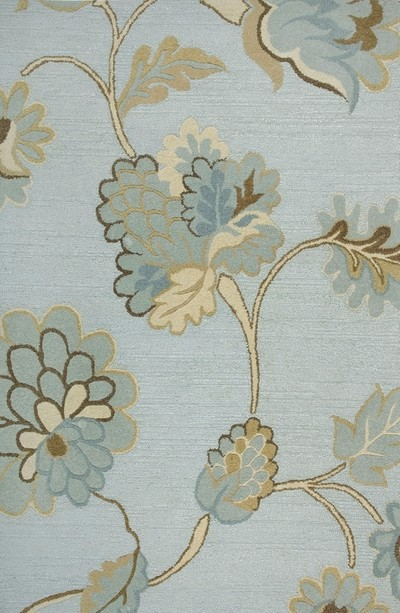 Rizzy Rugs Light Blue Floral Hand Tufted Area Rug Dimensions DI1615