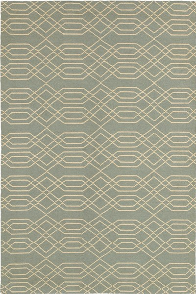 Rizzy Rugs Light Blue Transitional Hand Woven Dhurrie Area Rug Swing SG8159