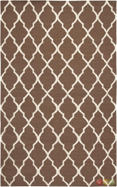 Rizzy Rugs Light Brown Lattice Hand Woven Dhurrie Area Rug Swing SG2099
