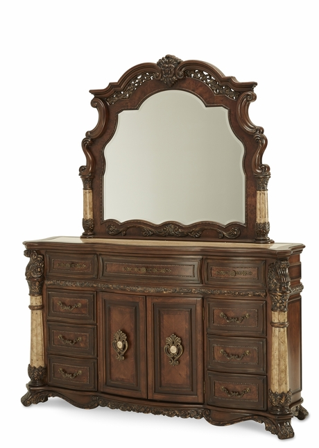 Michael Amini Victoria Palace Light Espresso Traditional Dresser by AICO