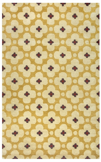 Rizzy Rugs Light Gold Transitional Hand Tufted Area Rug Opus OP8088