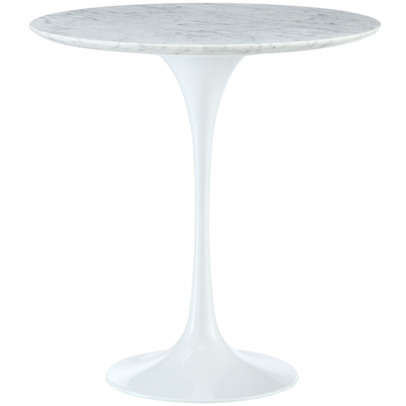 Lippa 20 Quot Round Marble Top Side Table With Aluminum