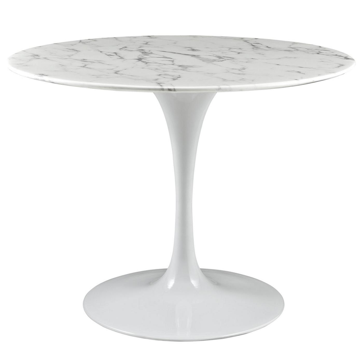 Lippa 40 Quot Round Faux Marble Dining Table With Lacquered