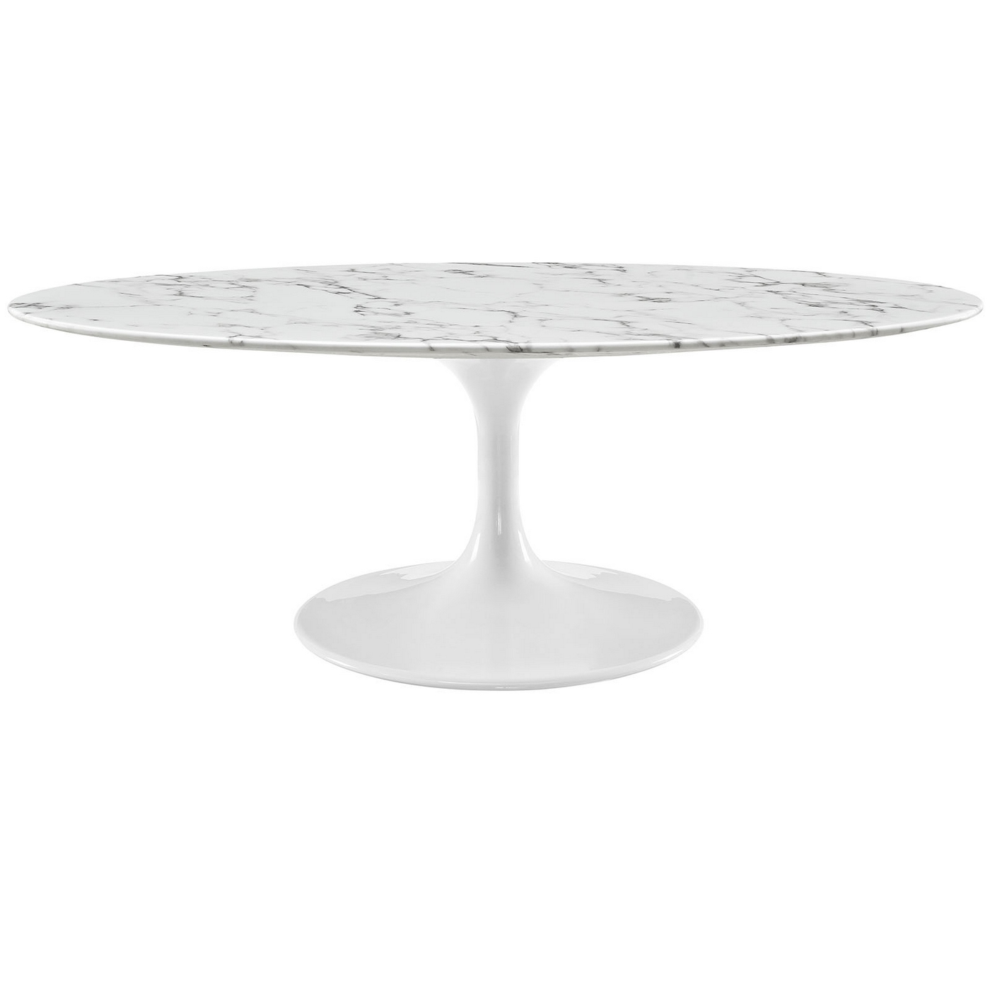 "Oval Coffee Table Marble: Lippa 48"" Oval-shaped Faux Marble Coffee Table W/metal"