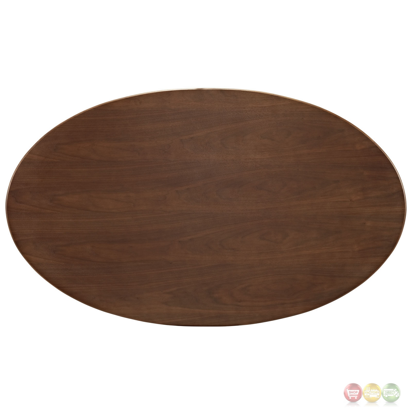 Lippa 60 Quot Oval Shaped Walnut Top Dining Table With