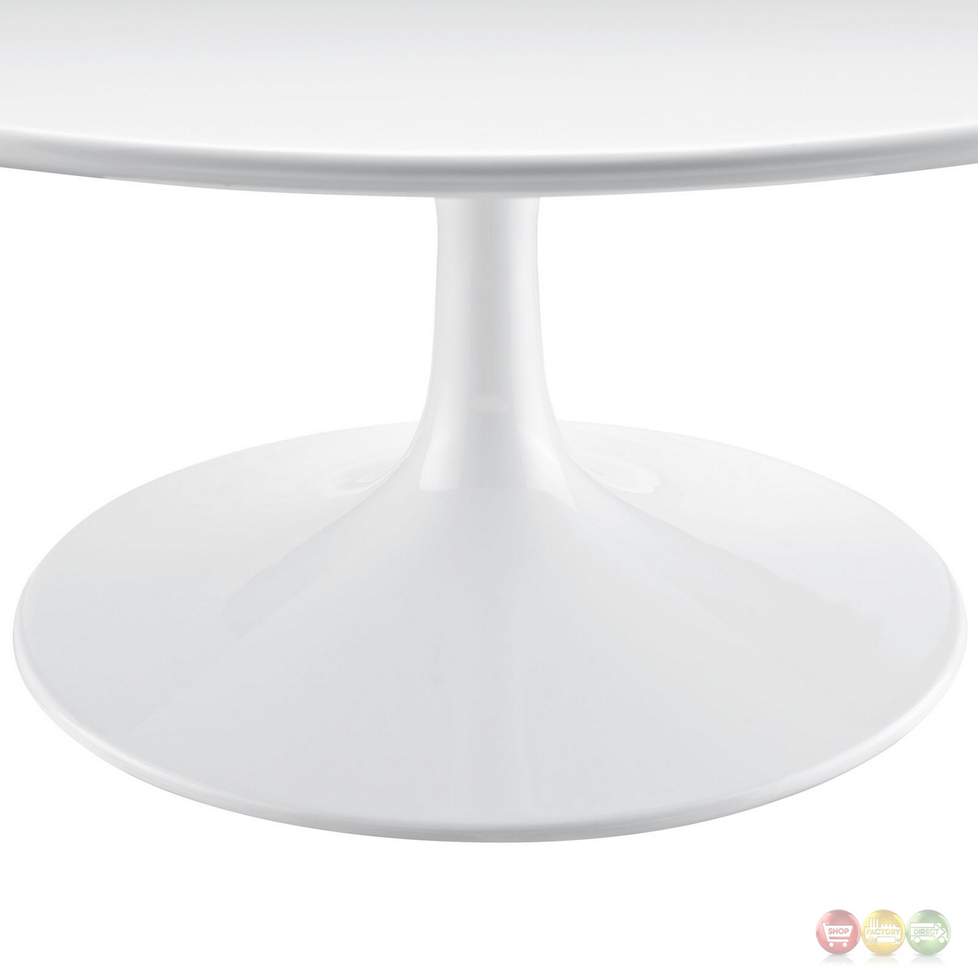 "Lippa Modern 36"" Round Pedestal Coffee Table With"
