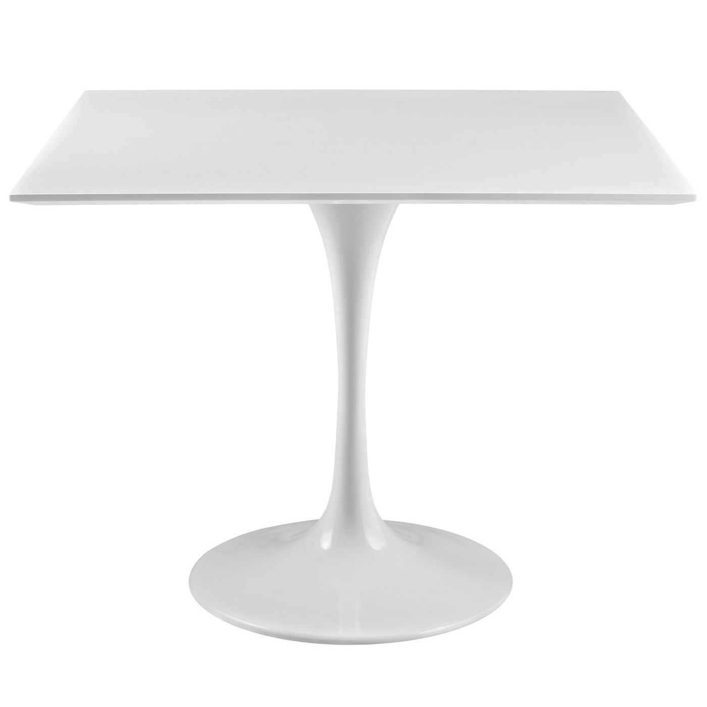 """White Square Dining Table: Lippa Modern 36"""" Square Wood Top Dining Table W/lacquered"""