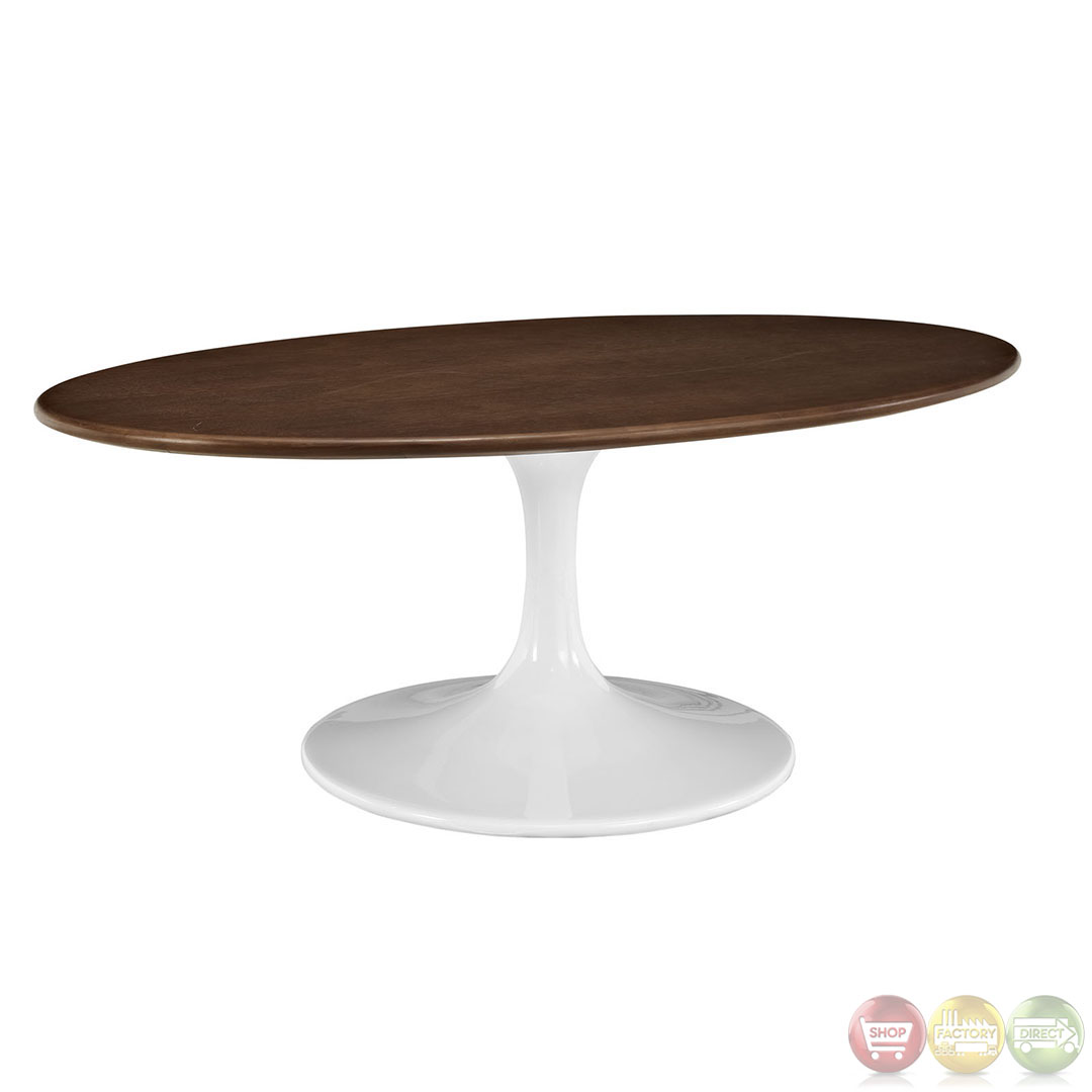 Lippa Modern Coffee Table With Oval Shaped Top