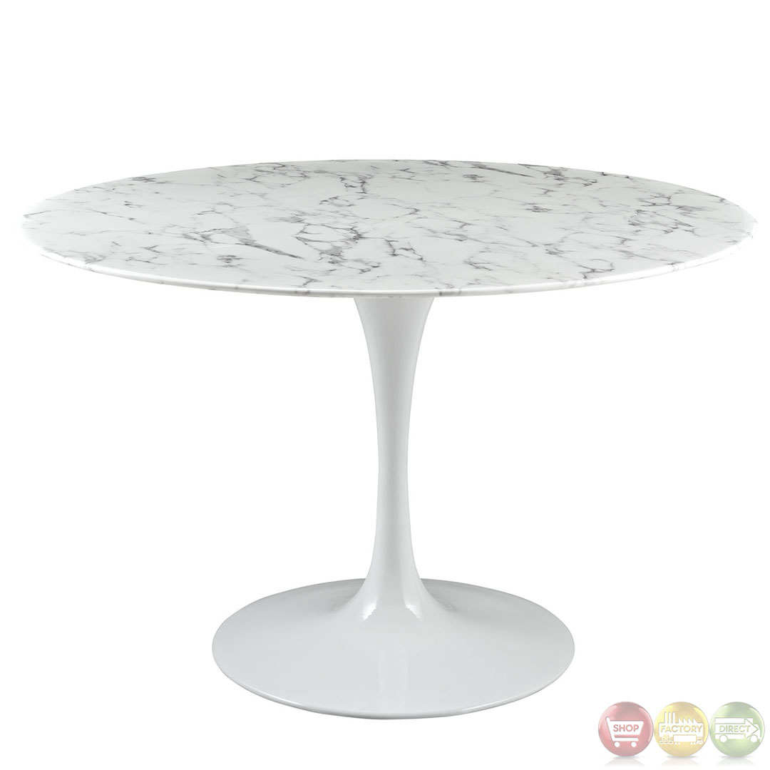 Lippa Modern Dining Table With Marble Top