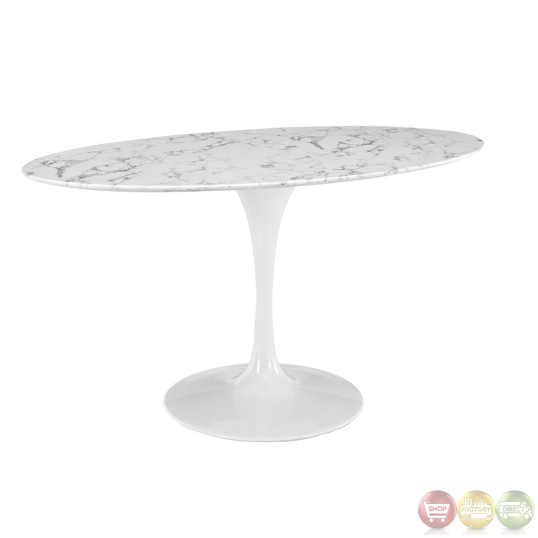 Lippa Modern Dining Table With Oval Shaped Top