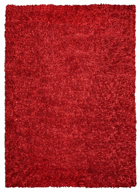 Rizzy Rugs Lipstick Red Shag Hand Tufted Area Rug Kempton KM2310
