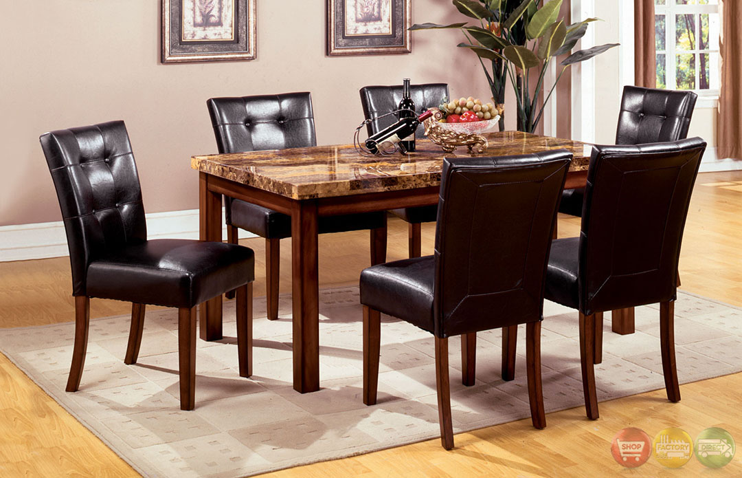 Little Rock I Dark Oak Casual Dining Set With Leatherette