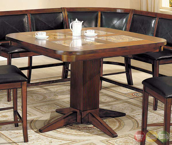 Counter Height Corner Dining Set : Living Stone II Counter Height Bench Seating Corner Dining Set