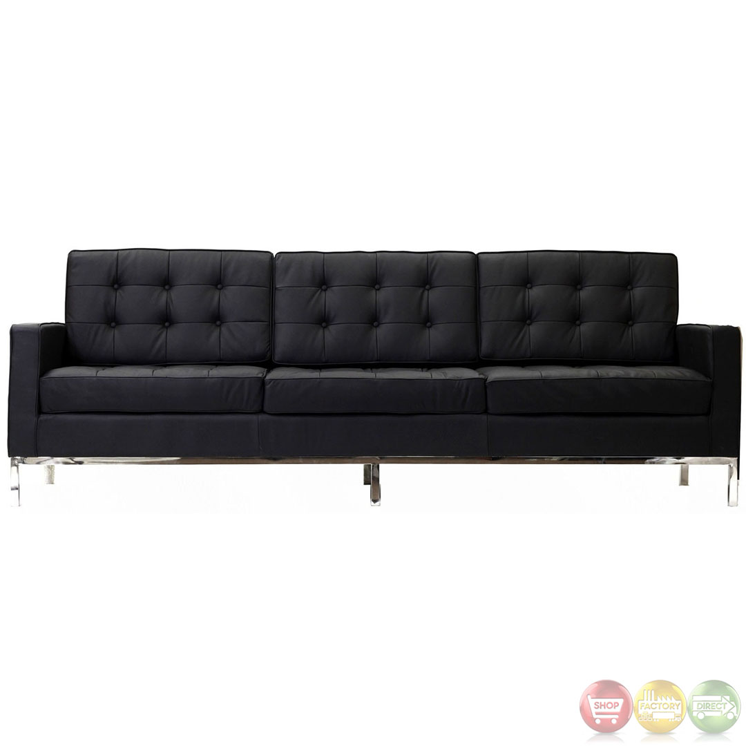 Modern Sofa : Loft Contemporary Modern Sofa with Tufted Seat and Back EEI-187