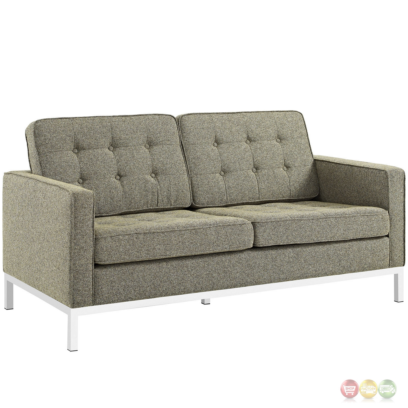 Loft Modern 2pc Upholstered Button tufted Sofa amp Loveseat  : loft modern 2pc upholstered button tufted sofa loveseat set oatmeal 5 from shopfactorydirect.com size 1400 x 1400 jpeg 811kB