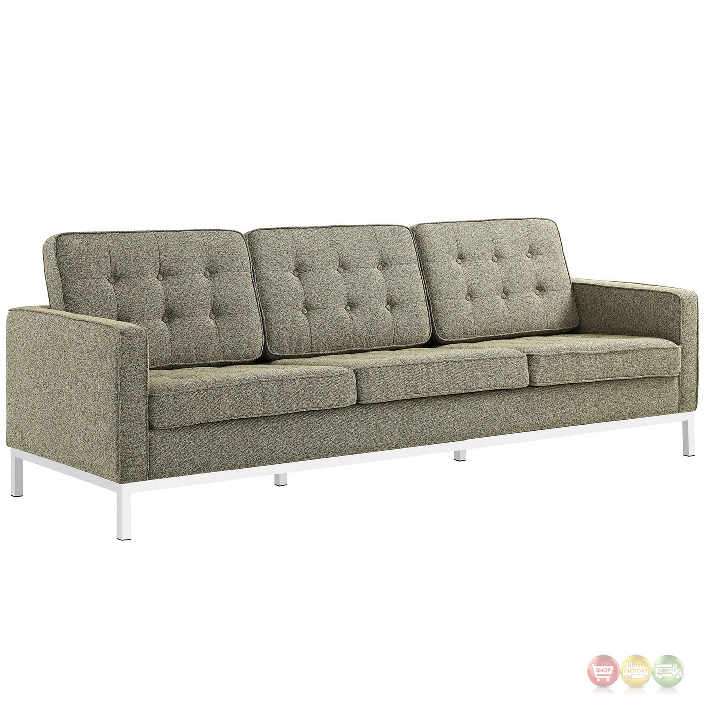 Loft Modern 2pc Upholstered Button tufted Sofa amp Loveseat  : loft modern 2pc upholstered button tufted sofa loveseat set oatmeal 9 from shopfactorydirect.com size 1400 x 1400 jpeg 573kB