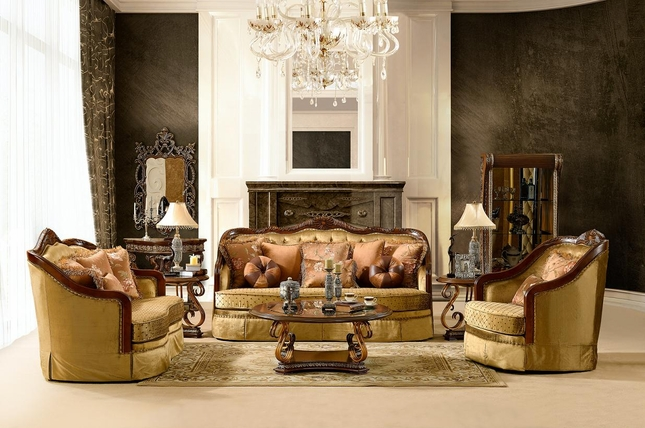 Luxurious Traditional Style Formal Living Room Set HD-3114