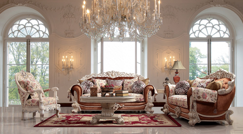Luxurious Traditional Style Formal Living Room Furniture Set HD 372
