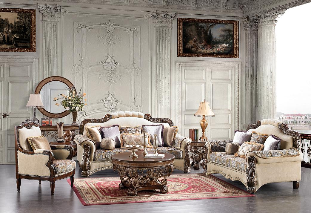 Luxurious Traditional Style Formal Living Room Furniture Set HD 382