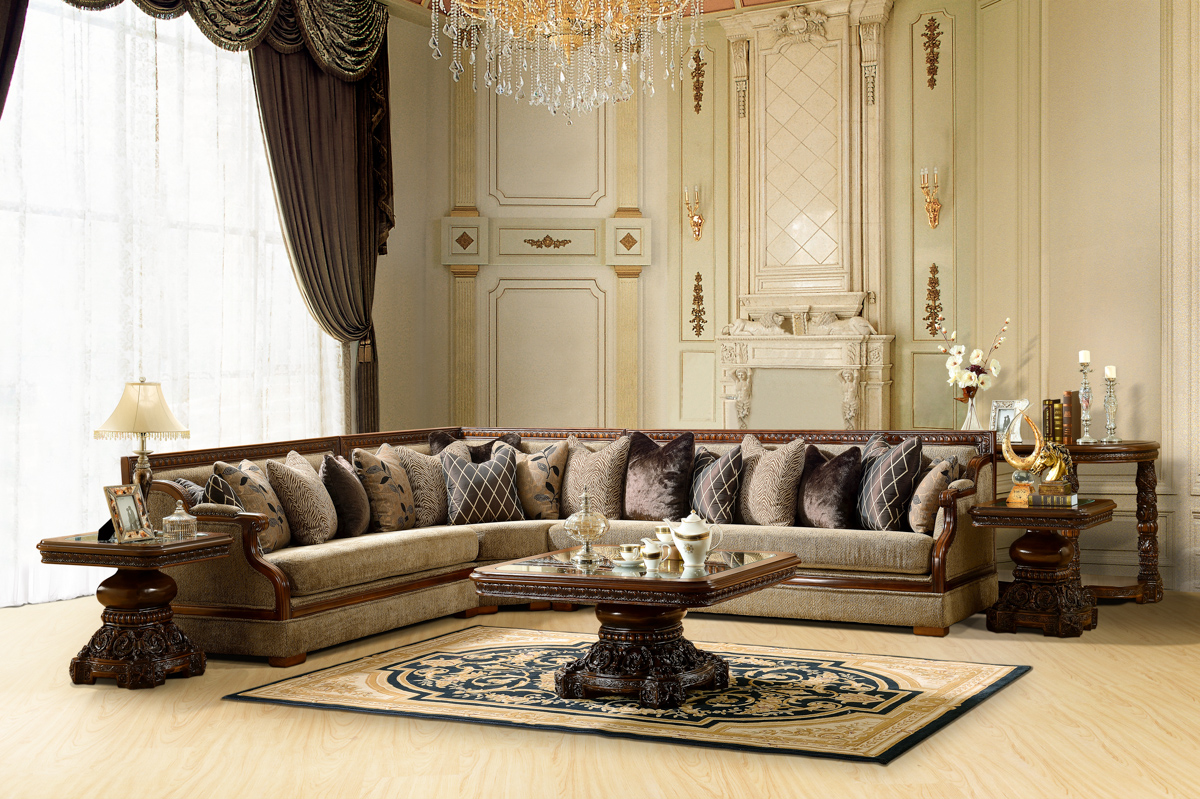Living Room Furniture: Luxurious Traditional Style Formal Living Room Set HD-461