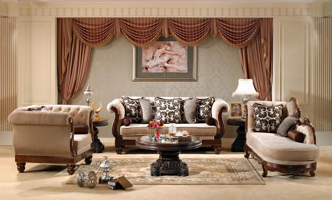 Luxurious Traditional Style Formal Living Room Set HD 462